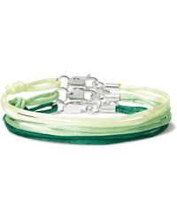 Rubinacci - Set Of Three Silk And Sterling Silver Bracelets - Lyst