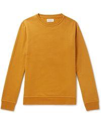 Oliver Spencer - Harris Fleeceback Cotton-jersey Sweatshirt - Lyst