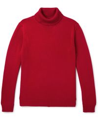 Altea - Virgin Wool Rollneck Jumper - Lyst
