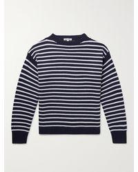 Alex Mill Striped Merino Wool Jumper - Blue