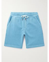Orlebar Brown Dania Slim-fit Washed Cotton-jersey Drawstring Shorts - Blue