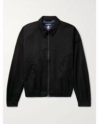 Monitaly Twill Harrington Jacket - Black