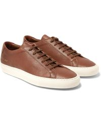 Common Projects - Original Achilles Full-grain Leather Sneakers - Lyst