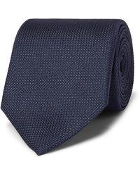 BOSS 7.5cm Silk-jacquard Tie - Blue