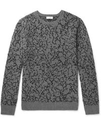 Cmmn Swdn - Alton Cotton, Merino Wool And Cashmere-blend Sweater - Lyst