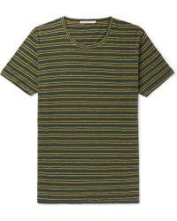 Nudie Jeans - Anders Striped Slub Organic Cotton-jersey T-shirt - Lyst