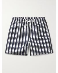 NN07 Jules Mid-length Striped Swim Shorts - Blue