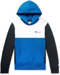Todd Snyder - Logo-embroidered Colour-block Loopback Cotton-jersey Hoodie - Lyst