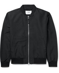 NN07 Pires Brushed-jersey Bomber Jacket - Black