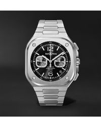 Bell & Ross Br 05 Automatic Chronograph 42mm Stainless Steel Watch - Black