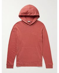James Perse Supima Cotton-jersey Hoodie - Red