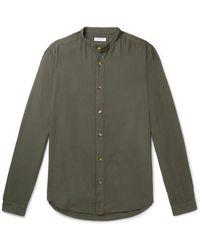 Boglioli Grandad-collar Woven Shirt - Green