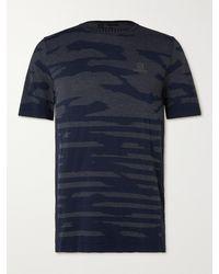 Salomon Xa Camouflage-print Stretch-jersey T-shirt - Blue