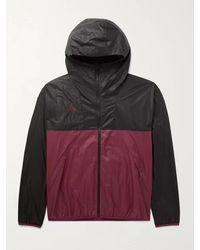 Nike Acg Nrg Logo-embroidered Colour-block Nylon-ripstop Hooded Jacket - Black