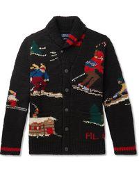 Polo Ralph Lauren Skier Hand-knit Cardigan - Black