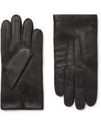 Dents Shaftesbury Touchscreen Cashmere-lined Leather Gloves - Black