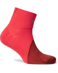 Nike Spark Lightweight Quarter Stretch-knit Running Socks - Red