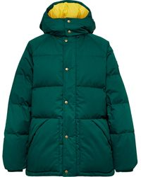 Aimé Leon Dore Woolrich Quilted Cotton-shell Hooded Down Jacket - Green