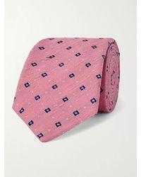 Turnbull & Asser 8cm Slub Silk-jacquard Tie - Pink