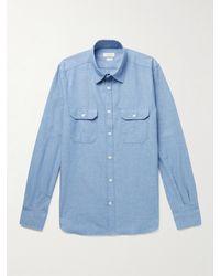 Incotex Slim-fit Cotton-chambray Shirt - Blue