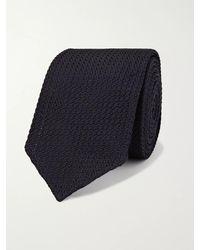 Lardini 7cm Knitted Silk Tie - Blue