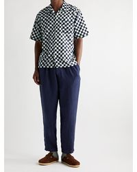 Universal Works Checked Cotton Shirt - Blue