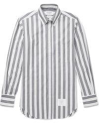 Thom Browne - Slim-fit Button-down Collar Striped Cotton Oxford Shirt - Lyst