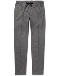 Dolce & Gabbana - Tapered Stretch Wool And Cotton-blend Drawstring Trousers - Lyst