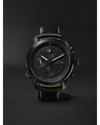 Bremont Alt1-b Automatic Gmt Chronograph 43mm Stainless Steel And Leather Watch, Ref. Alt1-b-r-s - Black