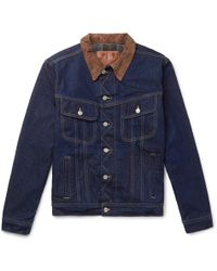 Kingsman - Jean Shop Tequila's Statesman Slim-fit Blanket-lined Selvedge Denim Jacket - Lyst
