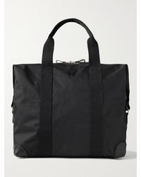 Bennett Winch Cargo Leather-trimmed Nylon Holdall - Black