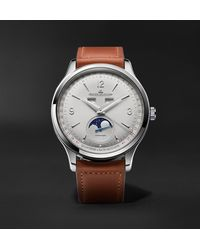 Jaeger-lecoultre Master Control Calendar Automatic 40mm Stainless Steel And Leather Watch - Metallic