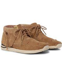 Visvim Lhamo-folk Beaded Suede Boots - Natural