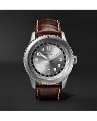 Breitling - Navitimer 8 B35 Automatic Unitime Chronometer 43mm Stainless Steel And Alligator Watch - Lyst