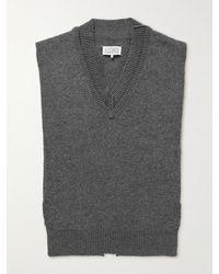 Maison Margiela Wool Jumper Vest - Grey