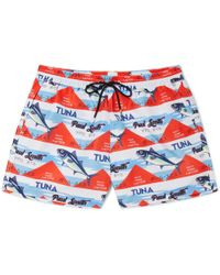 Paul Smith - Short-length Printed Swim Shorts - Lyst
