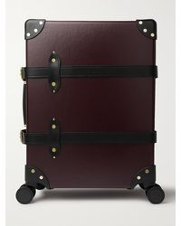 """Globe-Trotter Centenary 20"""" Leather-trimmed Carry-on Suitcase - Red"""