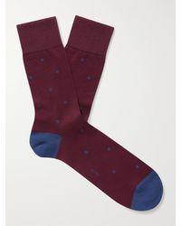 FALKE Polka-dot Fil D'ecosse Cotton-blend Socks - Red