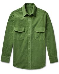 The Elder Statesman - Cotton-corduroy Shirt Jacket - Lyst