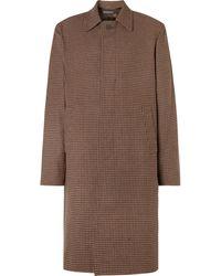 Balenciaga - Houndstooth Virgin Wool Coat - Lyst