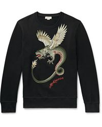 Alexander McQueen Dragon-embroidered Sweatshirt - Black