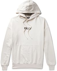 Billy Oversized Logo-print Loopback Cotton-jersey Hoodie - White