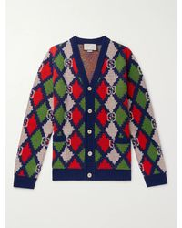 Gucci GG Rhombus Knitted Cardigan - Multicolour