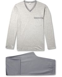 Zimmerli Mercerised Cotton-jersey Pyjama Set - Grey