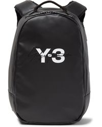Y-3 - Embroidered Logo-print Faux Leather Backpack - Lyst