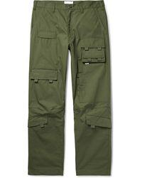 WTAPS Modular Cotton Cargo Trousers - Green