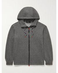 Kiton Wool-blend Hoodie - Grey