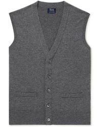 William Lockie Oxton Cashmere Sweater Vest - Gray