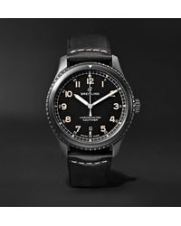 Breitling Navitimer 8 Automatic 41mm Steel And Leather Watch, Ref. No. M17314101b1x1 - Black