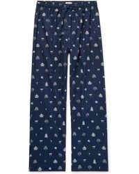 Derek Rose - Nelson Printed Cotton Pyjama Trousers - Lyst